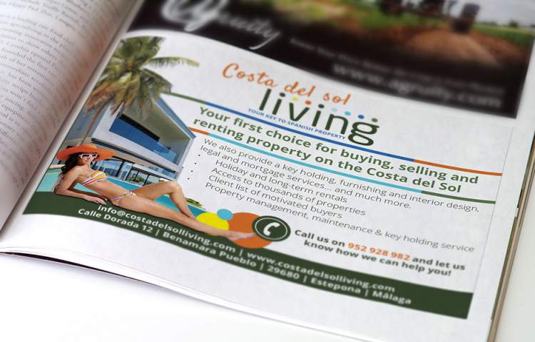 Costa del sol Living Advert