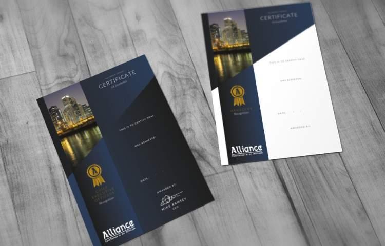 Alliance_certificates_Redline_Company