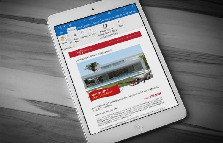 Hola-property_Email_Newsletter_Redline_Company