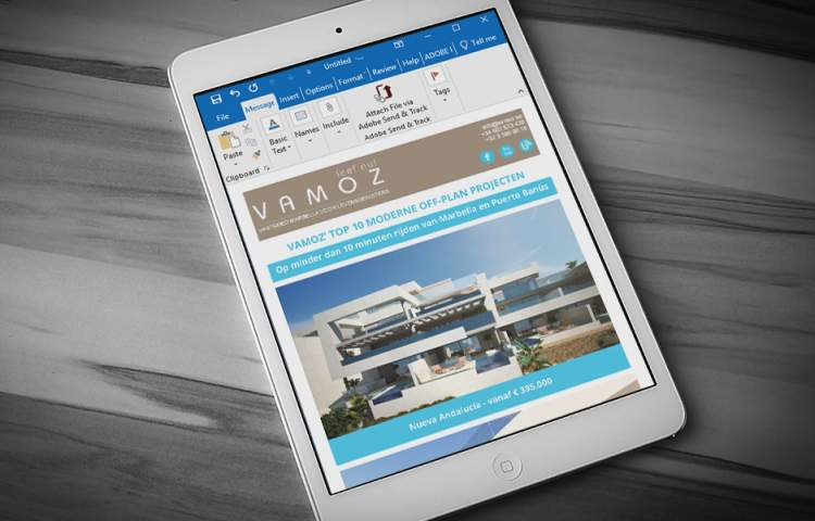 Vamoz_Email-advert_Redline_company