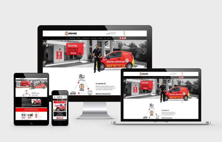 Alarma Universal website