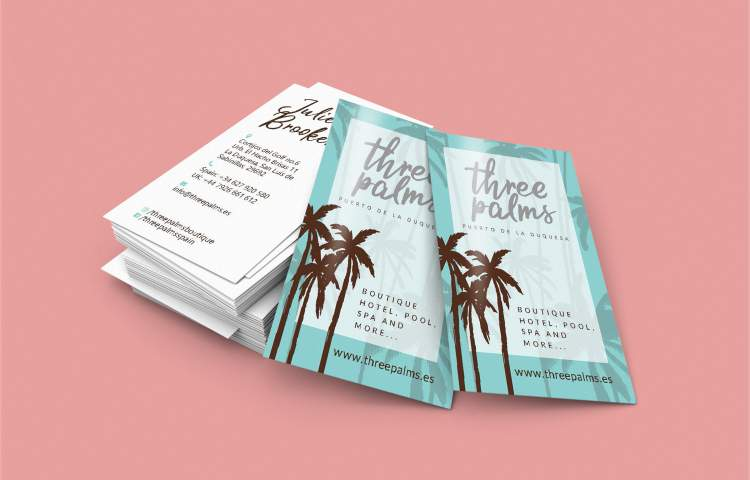 Three palms Business cards