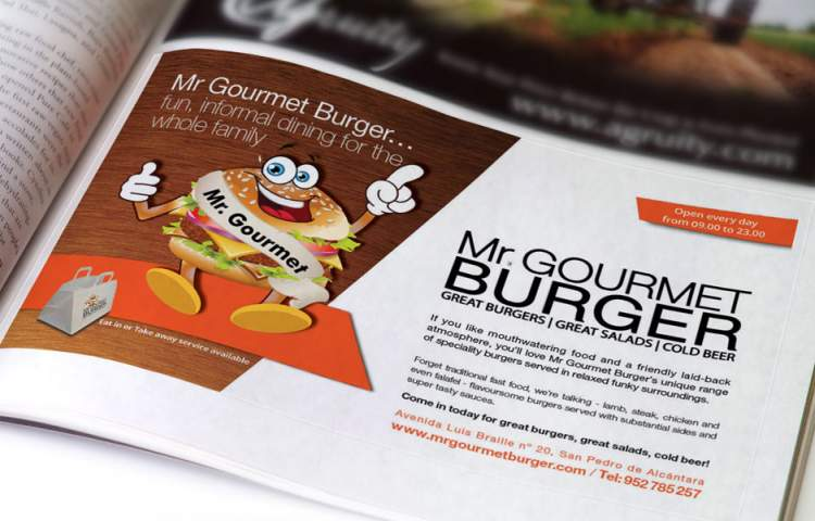 Mr Gourmet Burger Advert